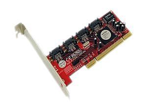 Addonics ADSA4R5 PCI Low Profile SATA II (3.0Gb/s) 4-Port RAID 5 / JBOD Controller