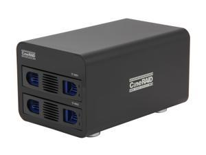 "CineRAID CR-H252 Hardware RAID, Supports RAID 0, 1, JBOD 2 3.5"" Drive Bays USB 3.0 (Backwards Compatible to USB 2.0) 2-Bay RAID/JBOD Enclosure"