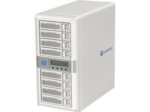 CineRAID CR-N8050-8T1 8-Bay Dual Port Thunderbolt Tower w/ 8TB(8x1TB) Enterprise HD, Thuderbolt Cable