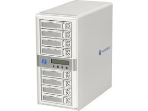 CineRAID CR-N8050-8T2 8-Bay Dual Port Thunderbolt Tower w/ 8TB(8x1TB) HD, Cable, Battery