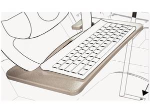 AutoExec - 00041 - Wheel Desk and Tablet Mount Combo, 15 x 1 x 8 1/2, Wood/Aluminum, Gray