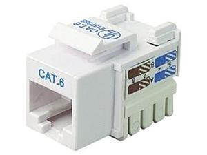 25PK CAT6 WHITE KEYSTONE JACK