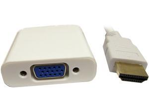 Professional Cable HDMIM-VGAF HDMI Male to VGA Female White Adapter