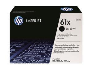 HP 61X Black LaserJet Toner Cartridge, maximum capacity (C8061X)