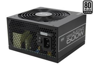 SPARKLE R-FSP600-80ETN 600W ATX12V V2.3 / EPS12V V2.92 SLI Ready CrossFire Ready 80 PLUS PLATINUM Certified Active PFC Power ...