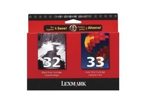 LEXMARK #32/ #33 twin pack/ 18C0532 Cartridge Black & Photo Color