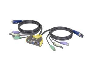 IOGEAR GCS612A MiniView Micro PS/2 Audio KVM Switch with Cables