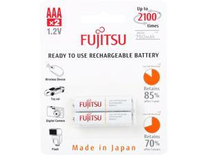 Fujitsu AAA  Ni-MH Pre-Charged Rechargeable Batteries 800mAh 2-Unit (Made in Japan)