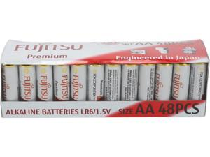 48-Pack Fujitsu LR6 AA Premium Alkaline Batteries + 36- Pc. AAA Battery