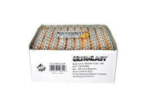 ULTRALAST ULA100AAAB 100-pack AAA Alkaline Batteries