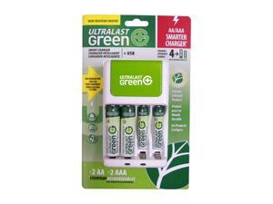 ULTRALAST ULGFAMILY Rechargeable Batteries & Charger Kit