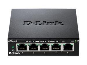 D-Link DES-105 Unmanaged 5-Port Fast Ethernet Switch