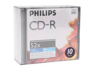 PHILIPS 700MB 52X CD-R 10 Packs Disc Model D52N300