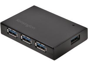 Kensington K33979EU USB 3.0 4-Port Hub & Charger — Black