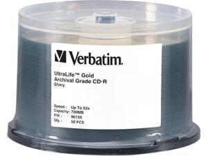 Verbatim 700MB 52X CD-R 50 Packs UltraLife Gold Archival Grade Disc Model 96159