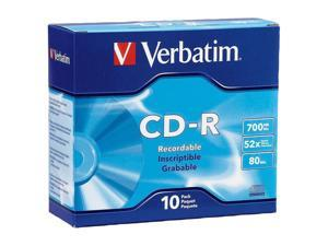 Verbatim 700MB 52X 10 Packs Disc Model 94935