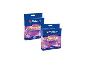 Verbatim 8.5GB 2.4X DVD+R 10 Packs Double Layer Media Model 95166-KIT