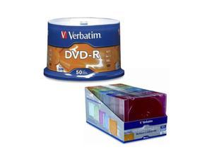 Verbatim DVD-R 50 Packs LLC COLOR Model 95101/94178-KIT