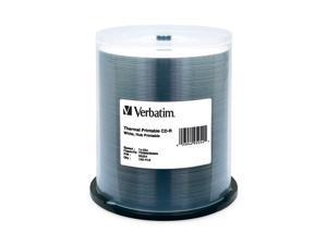 Verbatim 700MB 52X CD-R Thermal Printable 100 Packs Media Model 95254