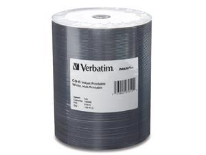 Verbatim 700MB 52X CD-R Inkjet Printable Hub Printable 100 Packs DataLife Plus Media Model 97019