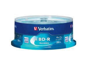 Verbatim 25GB 6X BD-R 25 Packs Disc Model 97457