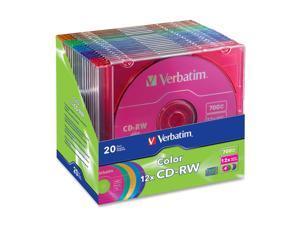 Verbatim 700MB 12X CD-RW 20 Packs CD Rewritable Media Model 96685