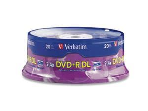 Verbatim 8.5GB 2.4X DVD+R DL 2 x 20 Packs Media Model 95310-2KIT