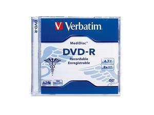 Verbatim 4.7GB 8X DVD-R Thermal Printable Single MediDisc DVD Recordable Media Model 94905