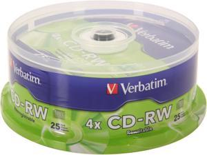 Verbatim 700MB 4X CD-RW 25 Packs Disc Model 95169