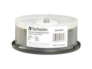 Verbatim 50GB 6X BD-R DL Thermal Printable 25 Packs Disc Model 97284