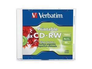 Verbatim 700MB 4X CD-RW Inkjet Printable Single Disc Model 95160