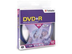 Verbatim 4.7GB 16X DVD-R 10 Packs Disc Model 95032