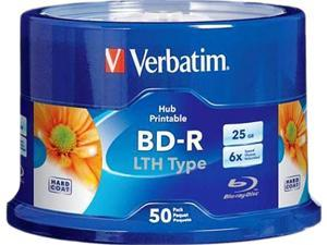 Verbatim Blu-ray Recordable Media - BD-R - 6x - 25 GB - 50 Pack Spindle