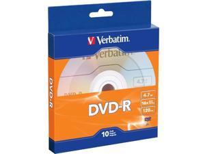 Verbatim DVD-R 4.7GB 16X 10pk Bulk Box