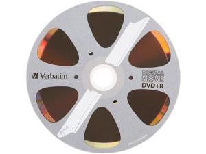 Verbatim DigitalMovie DVD Recordable Media - DVD+R - 8x - 4.70 GB - 10 Pack Box - Bulk
