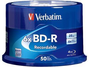 Verbatim 25GB 6X BD-R 50 Packs Disc Model 98397