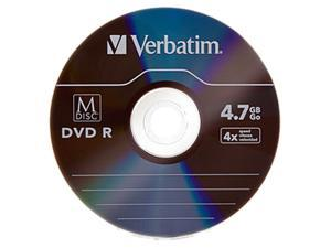 Verbatim M-Disc DVD-R 4.7GB 4X with Branded Surface - 5pk Jewel Case Model 98899