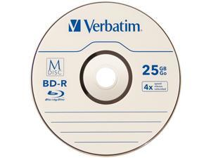 Verbatim M-DISC BD-R 25GB 4X with Branded Surface - 25pk Spindle  Model 98909