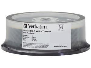 Verbatim Blu-ray Recordable Media - BD-R - 4x - 25 GB - 25 Pack Spindle