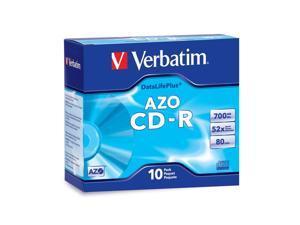 Verbatim CD-R 80MIN 700MB 52X DataLifePlus Branded 10pk Slim Cases