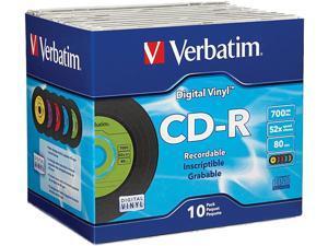 Verbatim 700MB 52X CD-R 10 Packs CD-R Media Model 94439