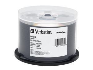 Verbatim DataLifePlus 4.7GB 8X DVD-R 50 Packs Disc Model 94852