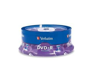 Verbatim 4.7GB 16X DVD+R 25 Packs Disc Model 95033