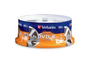"Verbatim 4.7GB 8X DVD-R 25 Packs High-Quality Digital Movie Disc with Unique ""Movie Reel"" Surface Model 94866"