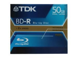 TDK 50GB 2X BD-R Single dual layer Disc Model BD-R50AAX