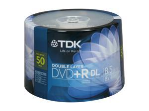 TDK 8.5GB 8X DVD+R DL 50 Packs Disc Model 61611