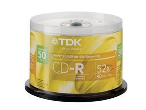TDK 700MB 48X CD-R 50 Packs Disc Model 47959