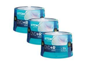 TDK 4.7GB 16X DVD+R 150 Packs Disc Model 48519-KIT