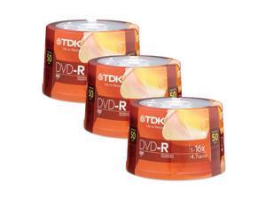 TDK 4.7GB 16X DVD-R 150 Packs Disc Model 48518-KIT