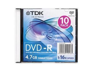 TDK 4.7GB 16X DVD-R 10 Packs Disc Model 48562
